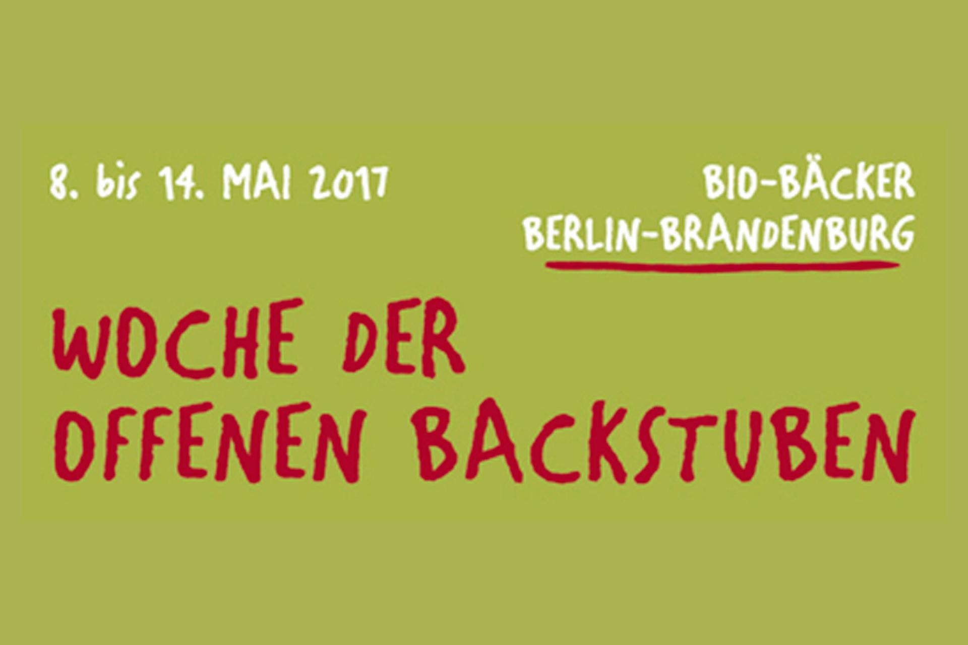 Woche Der Offenen Backstuben 2017 – Wir Heißen Sie Willkommen!